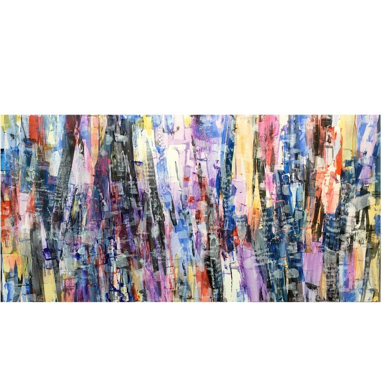 """Trees of Life"" Original Acrylic on Panel by Artist Ryan Fugate, 2016"