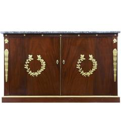 19th Century French Empire Mahogany Cabinet Buffet For Sale At 1stdibs