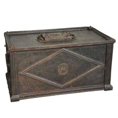 Exceptional Early 18th Century Italian Coffre or Strong Trunk