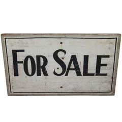 "Early 20th Century Original  Painted ""for Sale"" Trade Sign"