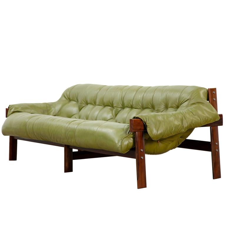 Beau Mid Century Rosewood Sofa By Percival Lafer, Brazil, 1960s