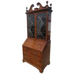 18th Century Mahogany Secretary Bookcase