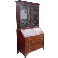 19th Century Mahogany Secretary Bookcase