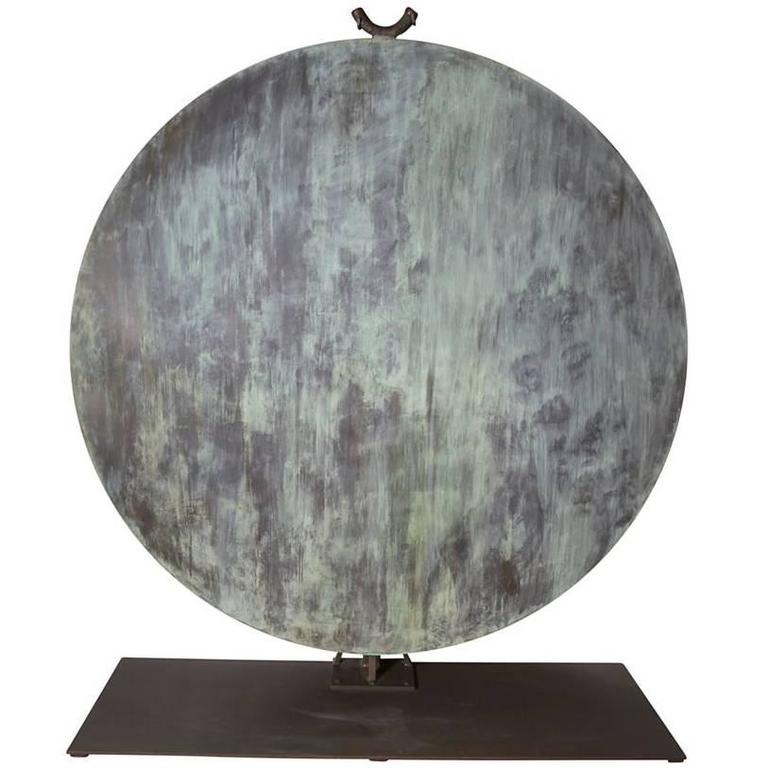 Monumental Copper Gong by Harry Bertoia For Sale