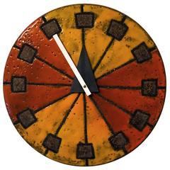 1960s Howard Miller Meridian Ceramic Wall Clock