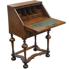 William and Mary Style Walnut Bureau of Small Proportions