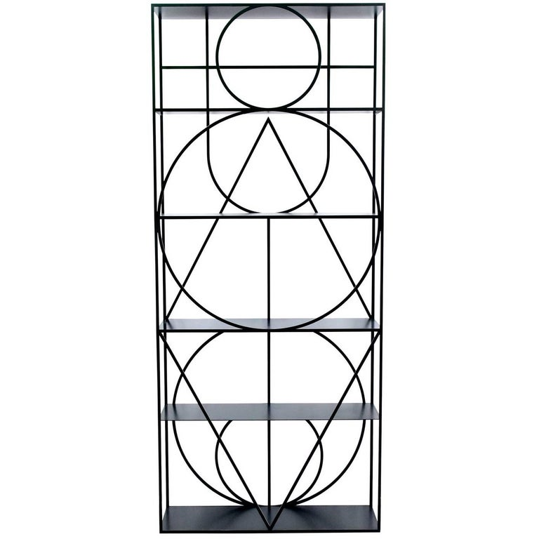 """Contemporary Black Steel """"Etagere No.1"""" by Alex Drew & No One, 2016 For Sale"""