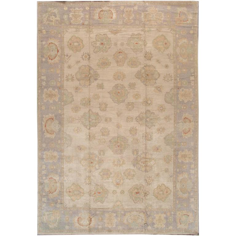 Lovely nice modern turkish oushak rug for sale at 1stdibs for Nice rugs for sale