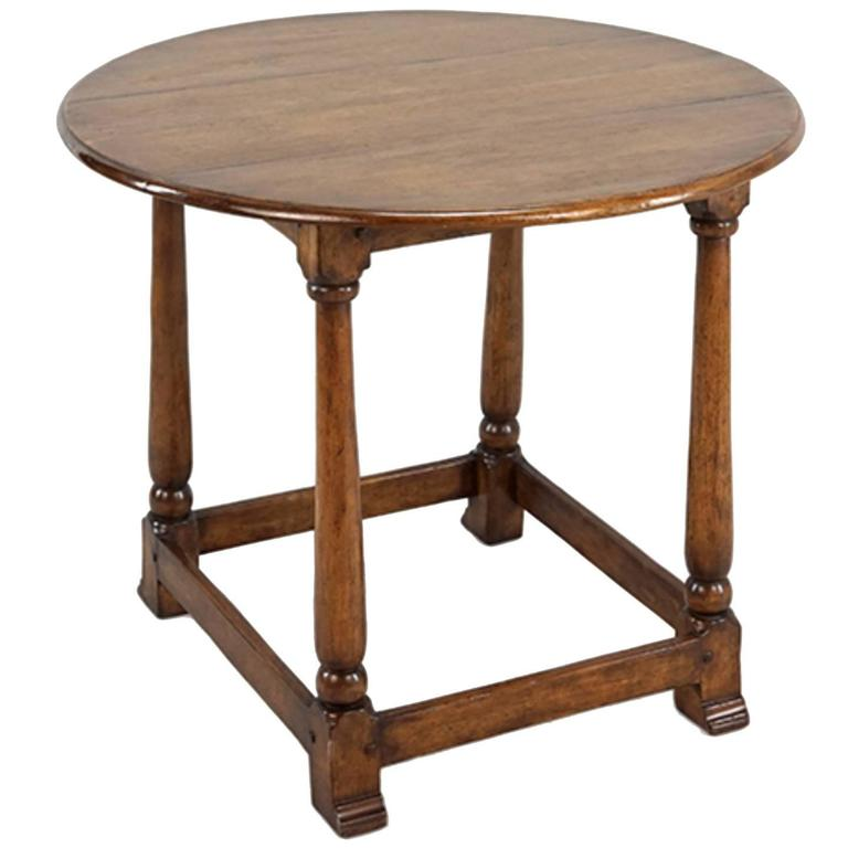 Handsome English Handcrafted Oak Tavern Table 1