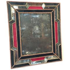 Pair of 1930s French Colored Glass Mirrors