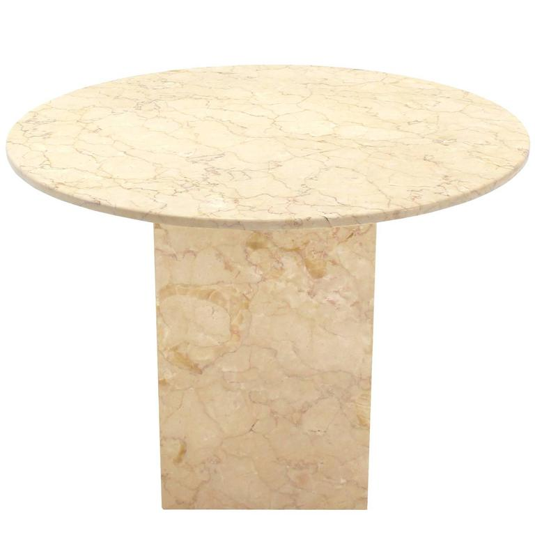 Marble Base and Top Gueridon Center Table