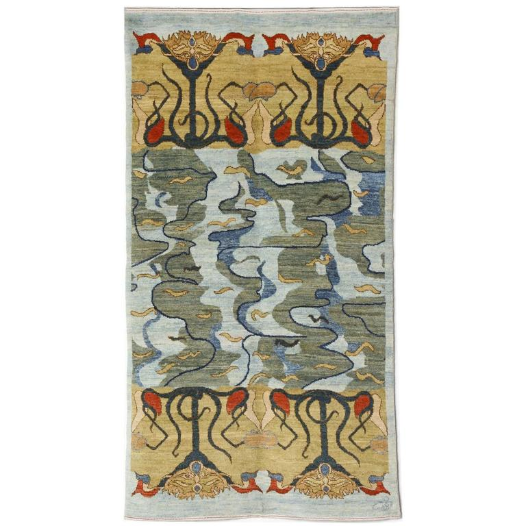Orley Shabahang Signature Carpet in Handspun Wool and Organic Vegetable Dyes For Sale