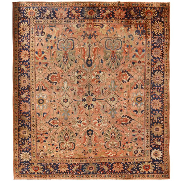 Antique Persian Sultanabad Rug For