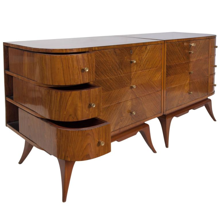 Pair of Scapinelli 1960s Dressers in Brazilian Wood For Sale