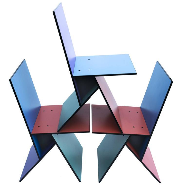 Rare Set of Six Vilbert Chairs by Verner Panton