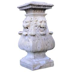 Louis XIV Stone Base, 18th Century