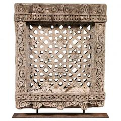 18th Century N. India Carved Sandstone Palace Window