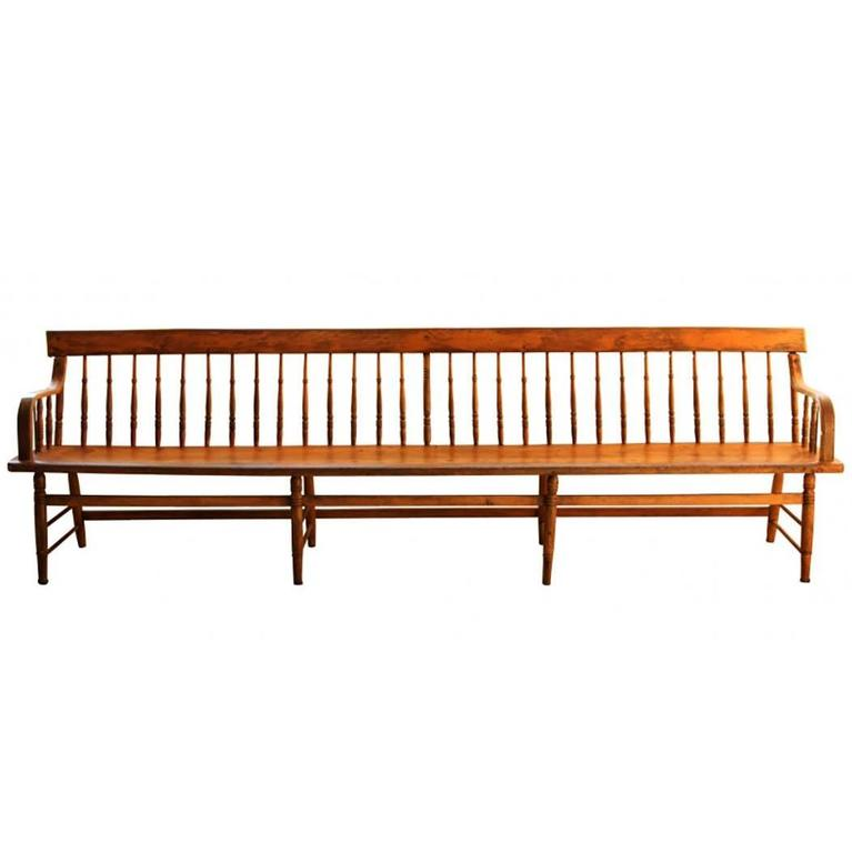 Antique Deacons Bench at 1stdibs