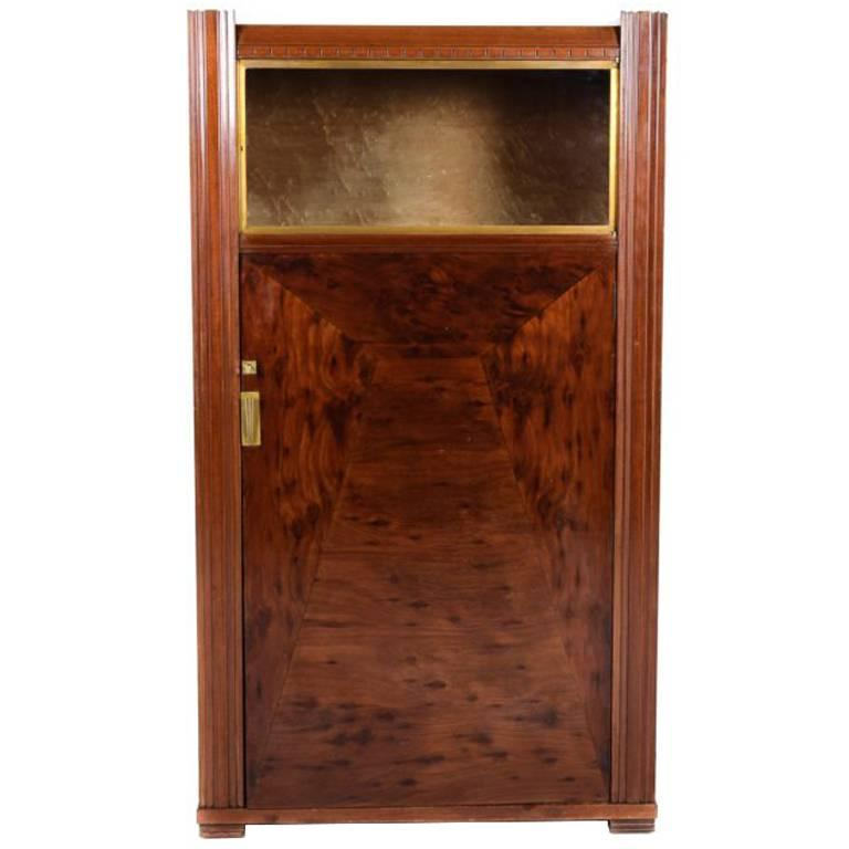 Great French Art Deco Liquor Cabinet, Circa 1930 For Sale