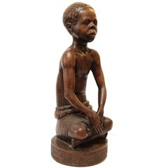 Antique Sculpture of African Youth