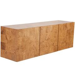 Olivewood Floating Sideboard Designed by Milo Baughman