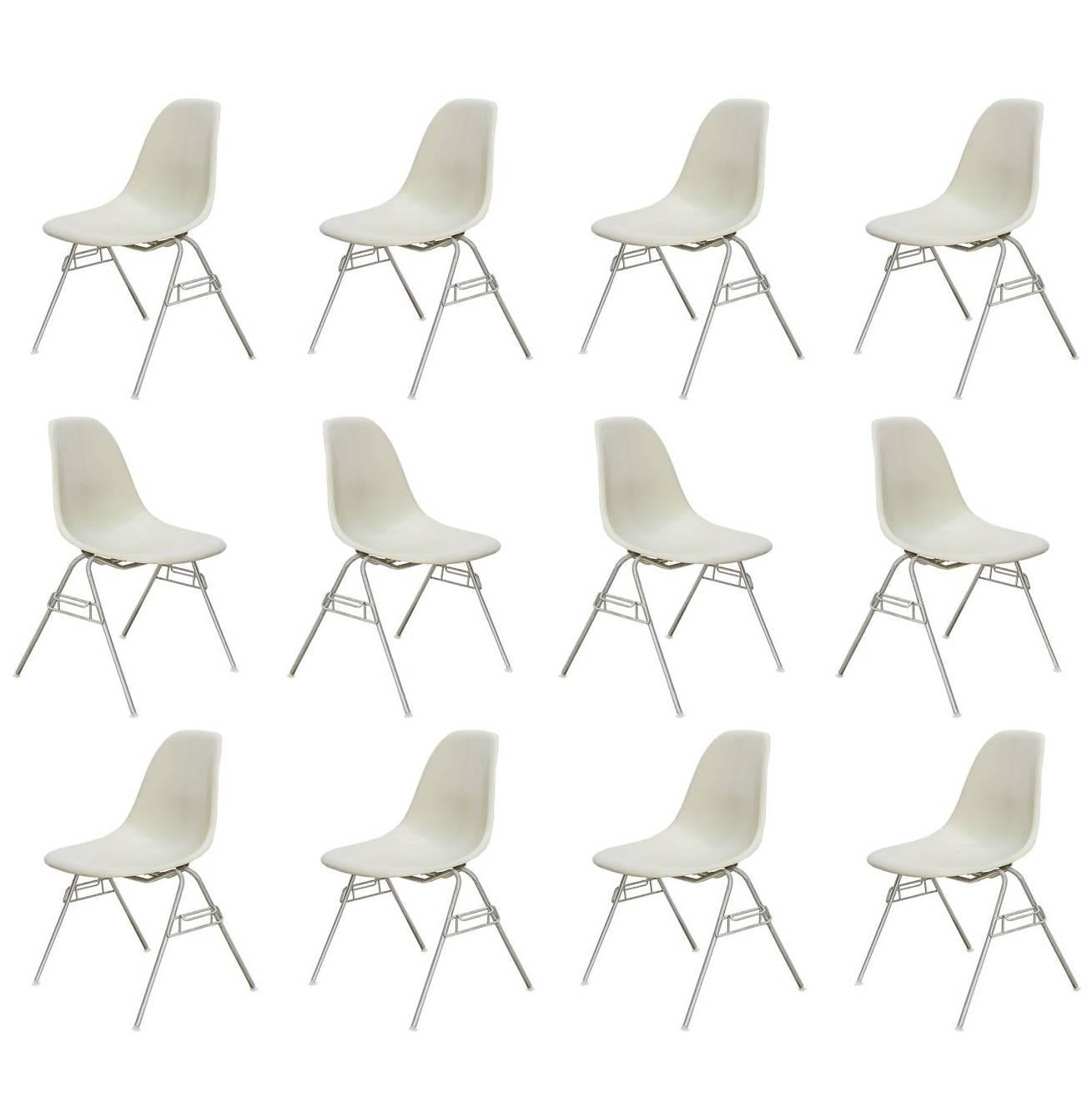 Eames for Herman Miller Parchment DSS Shell Chairs