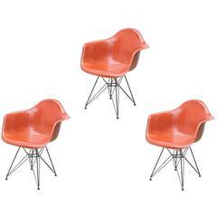 Eames Molded Fiberglass Armchair in Terracotta