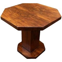 Original 1930s Art Deco Walnut Occasional Table