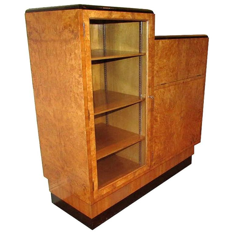 original english 1930s art deco blonde wood bureau at 1stdibs. Black Bedroom Furniture Sets. Home Design Ideas