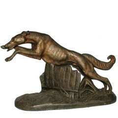 Art Deco Leaping Greyhound by L.Carvin