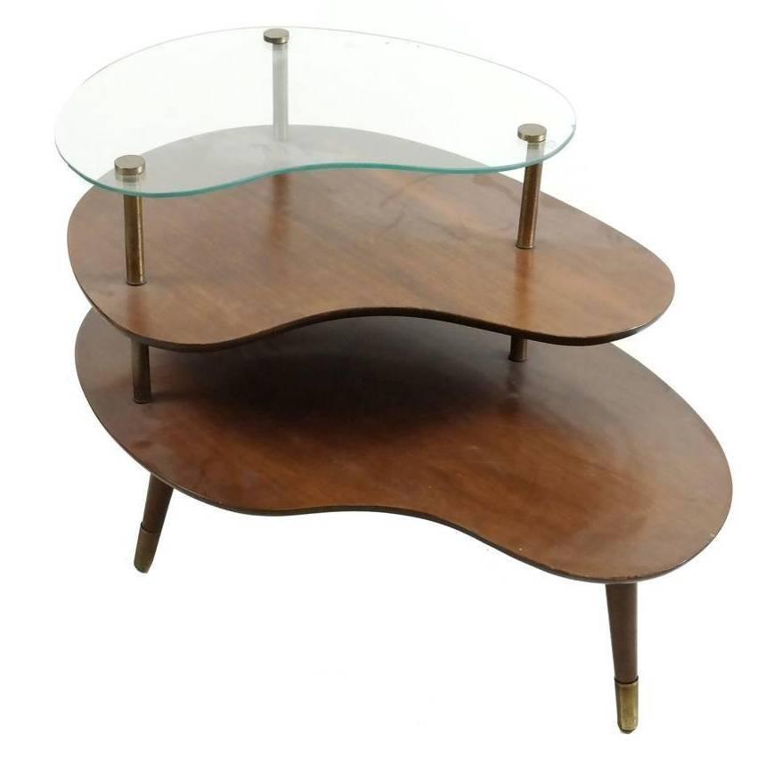 Mid-Century Amorphic Side Table