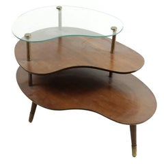 Mid-Century Amorphic Side Table