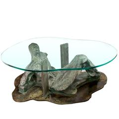 "Philip and Kelvin LaVerne Coffee Table ""Silence"", 1970s"
