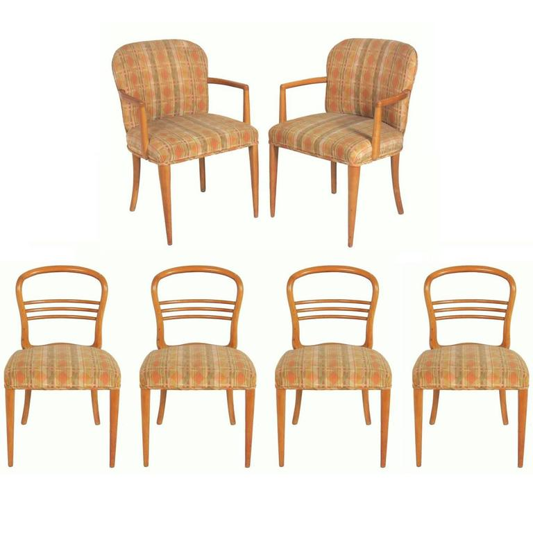 Set of Six Swedish Mid-Century Modern Dining Chairs