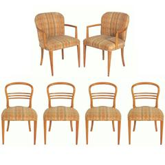 Set of Six Swedish Mid-Century Modern Dining Chairs