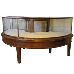 Curved Mahogany Display Case, circa 1905