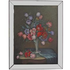 Large Floral Still Life Painting