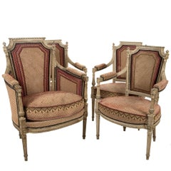 Two Pairs of Period Louis XVI Armchairs