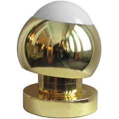 1970s Adjustable Brass Eyeball Accent Lamp