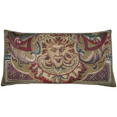 Antique Brussels Baroque Tapestry Pillow, circa 16th Century