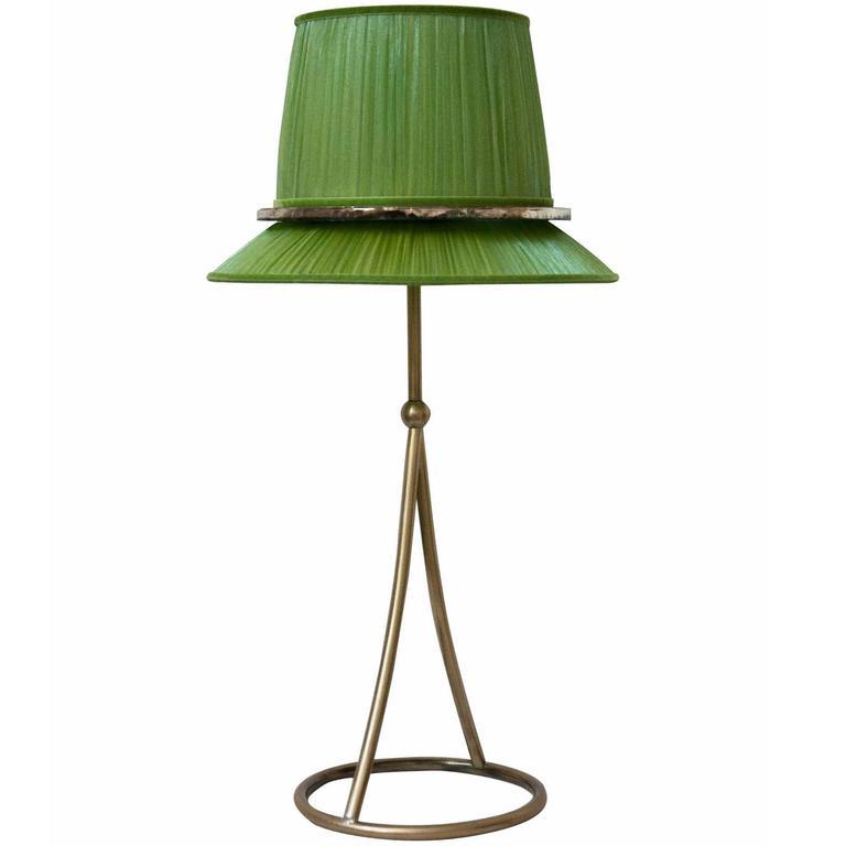 Pretty table lamp mat finishing grass silk shade silvered glass pretty table lamp mat finishing grass silk shade silvered glass circle for sale aloadofball Choice Image