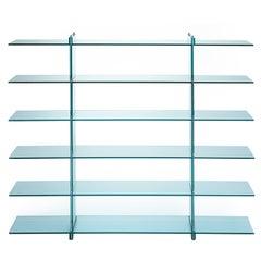 Teso Glass Bookcase Designed by Renzo Piano in 1985 for Fontana Arte