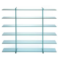 Teso Glass Bookcase Designed by Renzo Piano in 1985 for Fontana Arte
