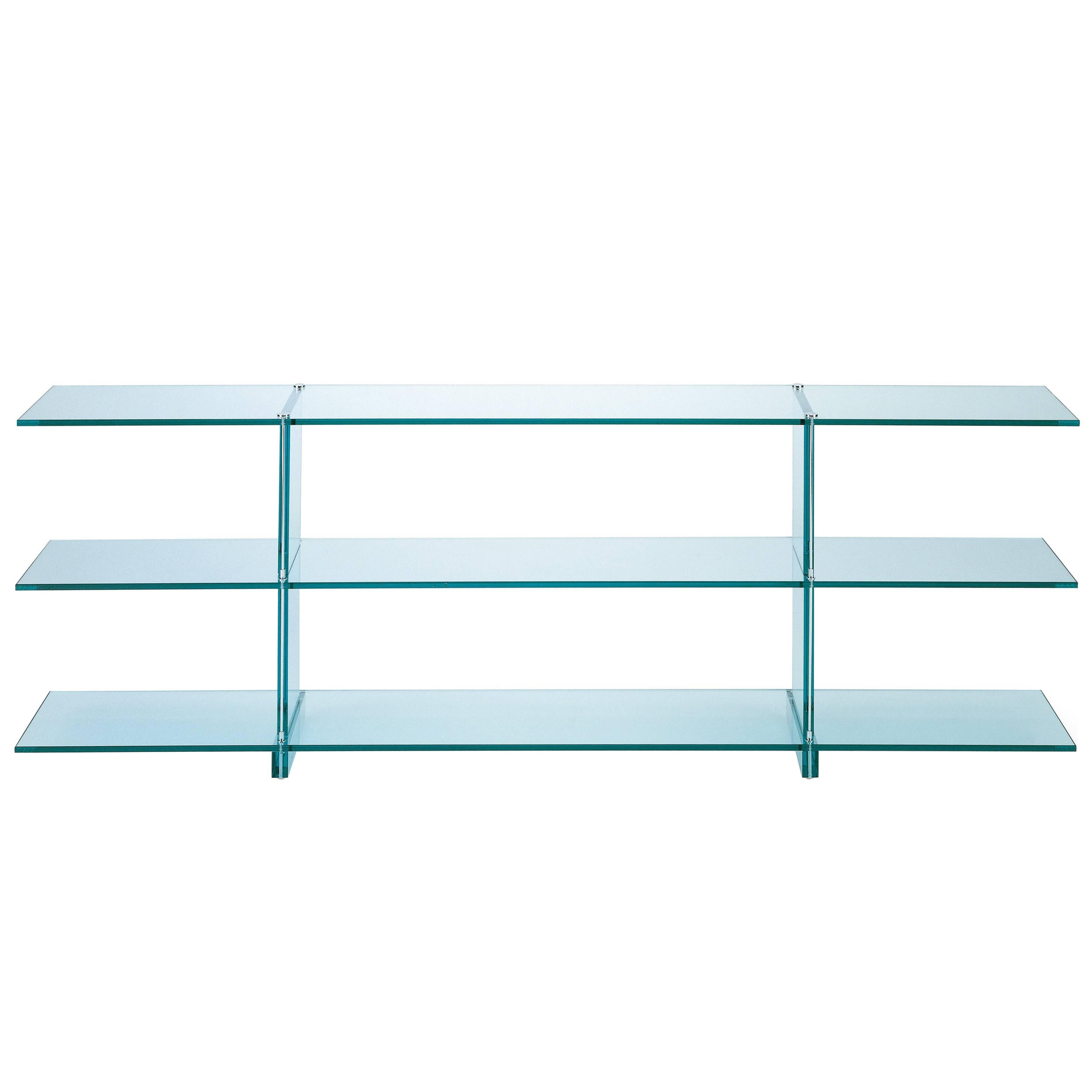 Teso glass console designed by renzo piano in 1985 for fontana arte for sale at 1stdibs
