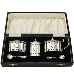 Sterling Silver Condiment Set