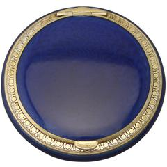 Antique Norwegian Sterling Silver and Enamel Compact