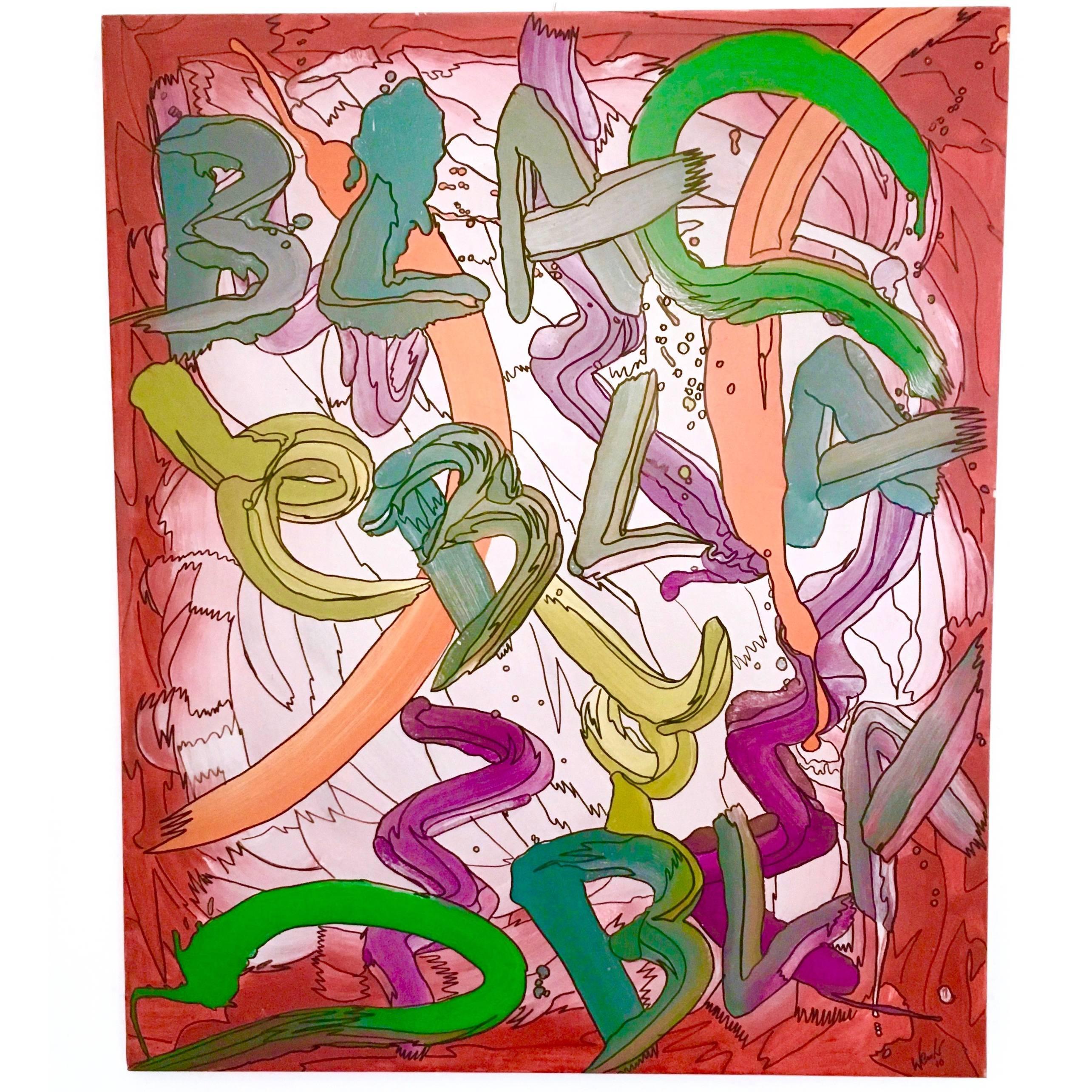"Painting ""Bla Bla Bla"" by Enzio Wenk, 2010"