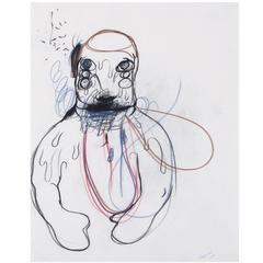 Bjarne Melgaard, Untitled, Pastel on Paper, 1997
