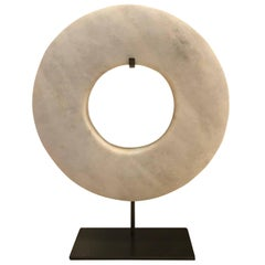 White Donut Shape Ring Sculpture, Contemporary, China