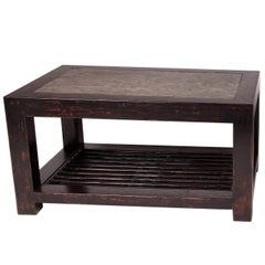 Chinese Table with Stone Top